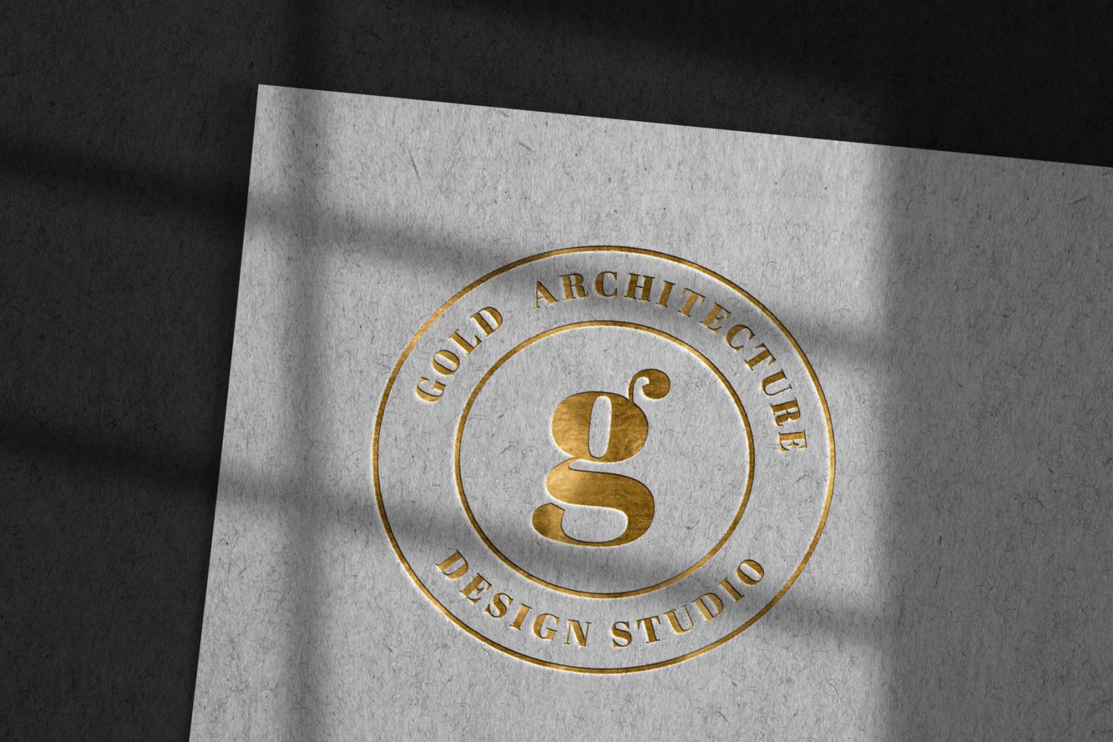 10款烫金压印徽标标志印刷工艺展示样机 Modern Luxury Logo Mockup Set 2插图(3)