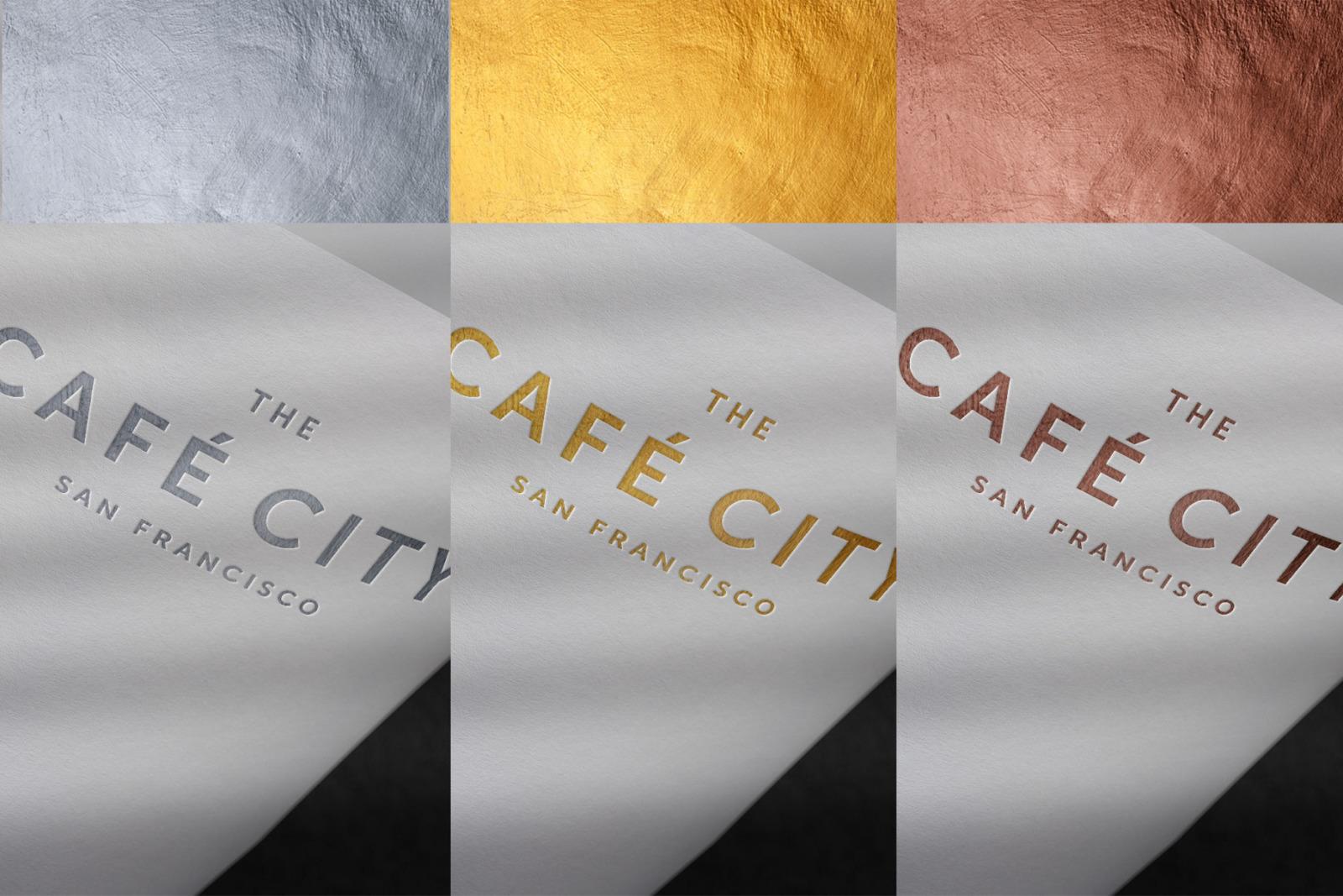 10款烫金压印徽标标志印刷工艺展示样机 Modern Luxury Logo Mockup Set 2插图(12)