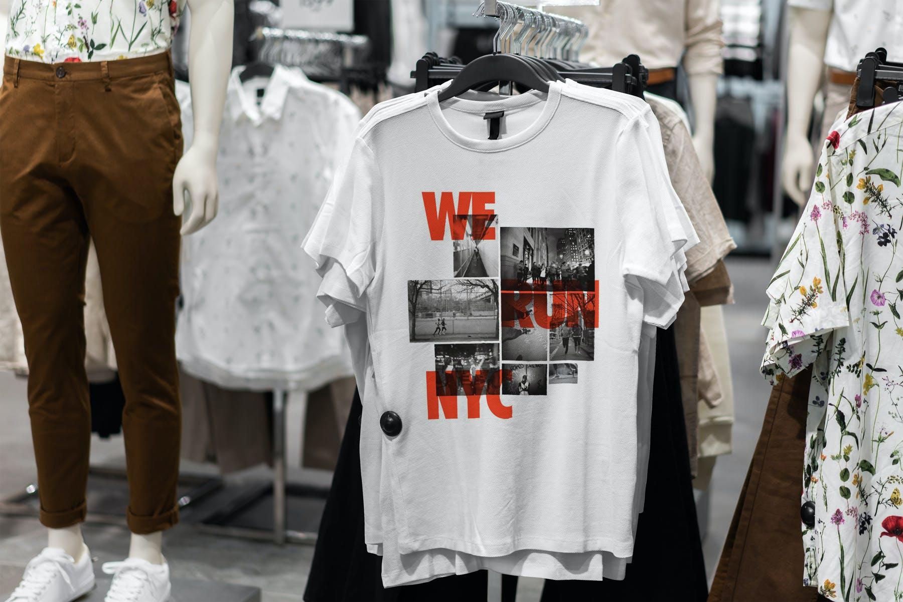 10款T恤半袖衫PSD样机模板 T-Shirt Shopping Mockup Vol.2插图(1)