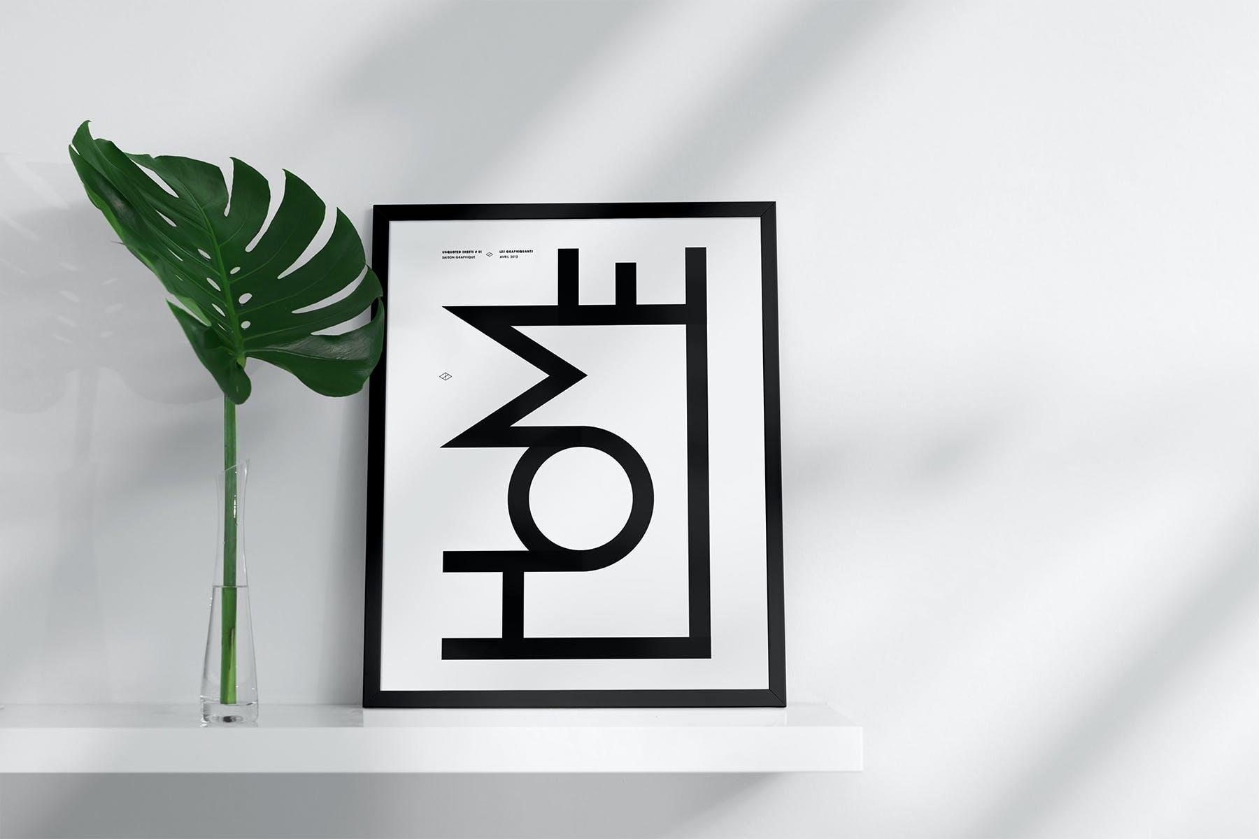 室内相片艺术品海报展示相框样机模板 Frame Mockup Home Style插图(3)