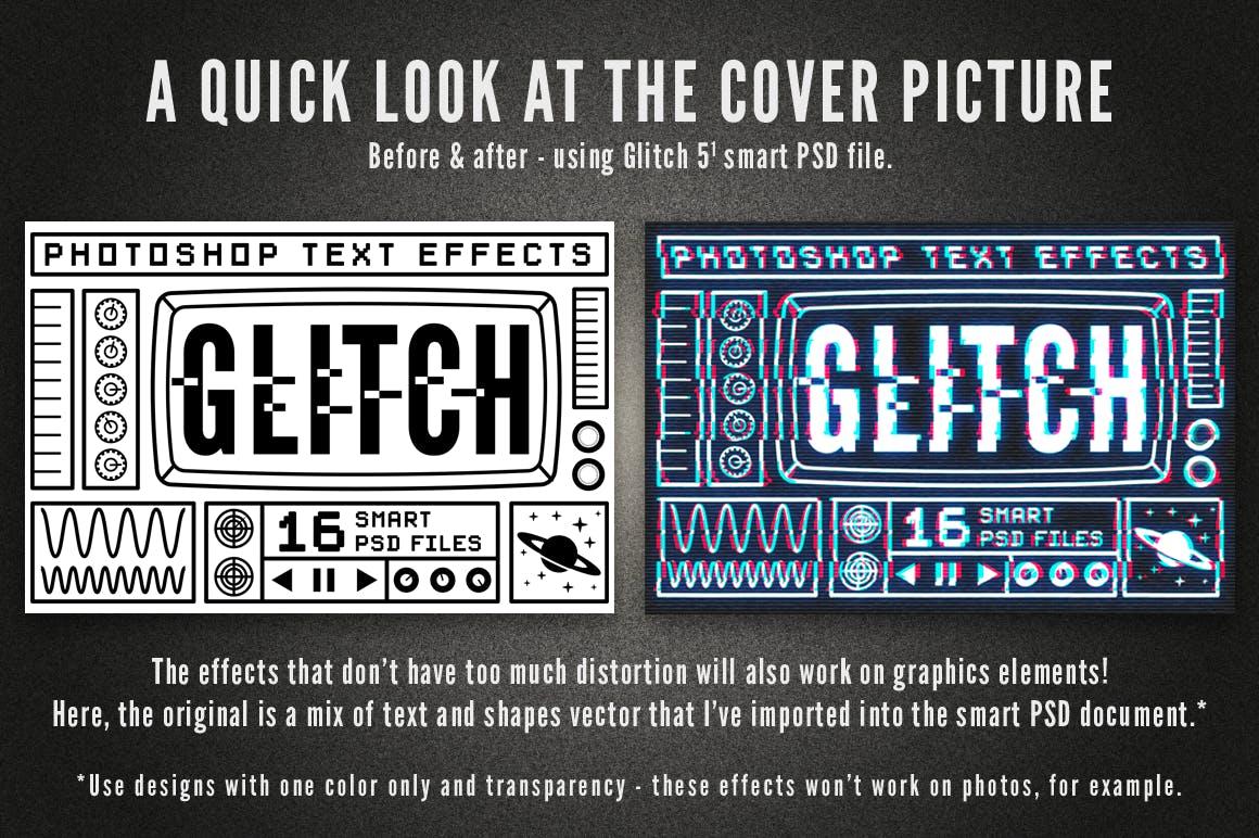 16个故障风文字图层样式模板 Photoshop Glitch Text Effects插图(3)