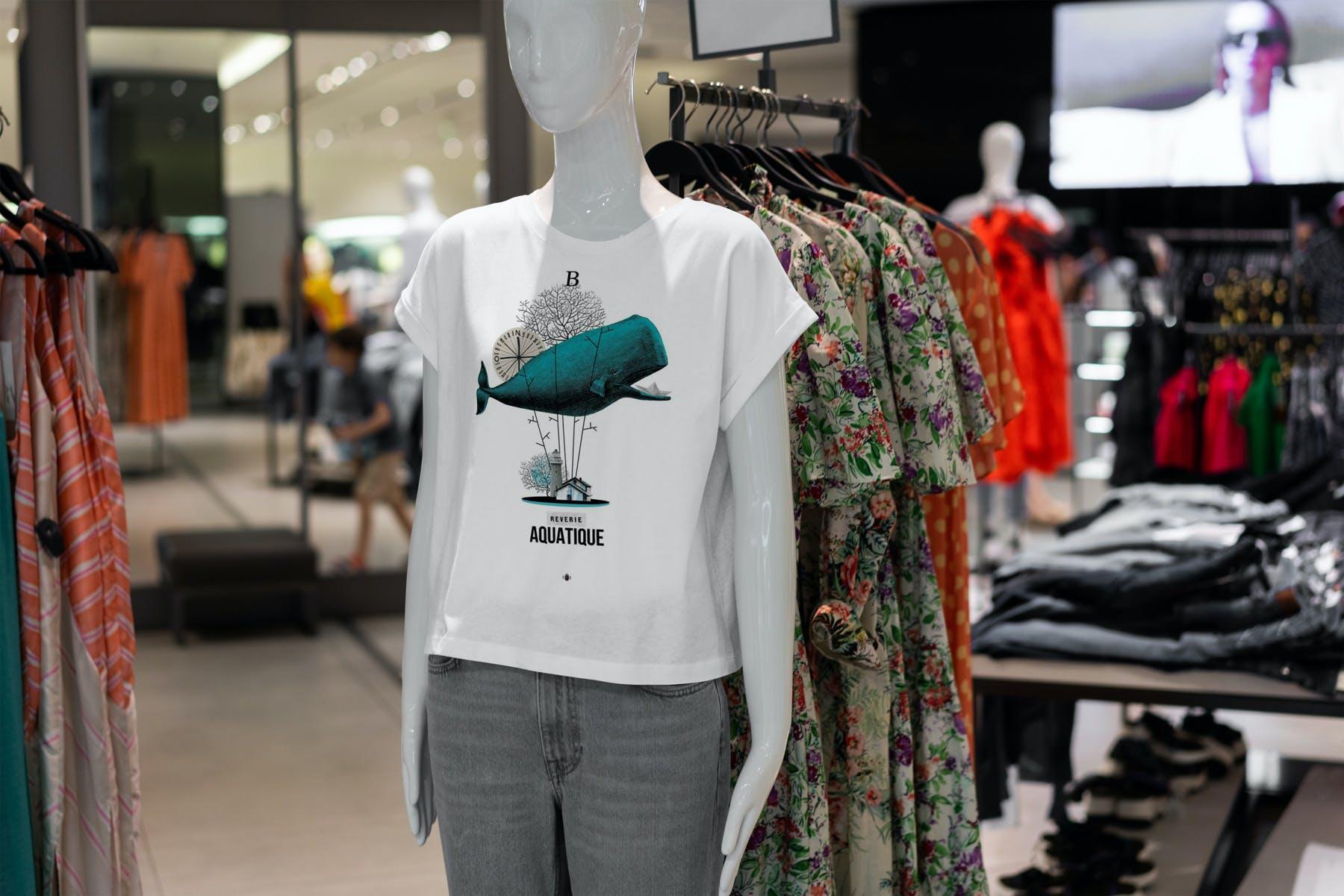 10款T恤半袖衫PSD样机模板 T-Shirt Shopping Mockup Vol.2插图(6)