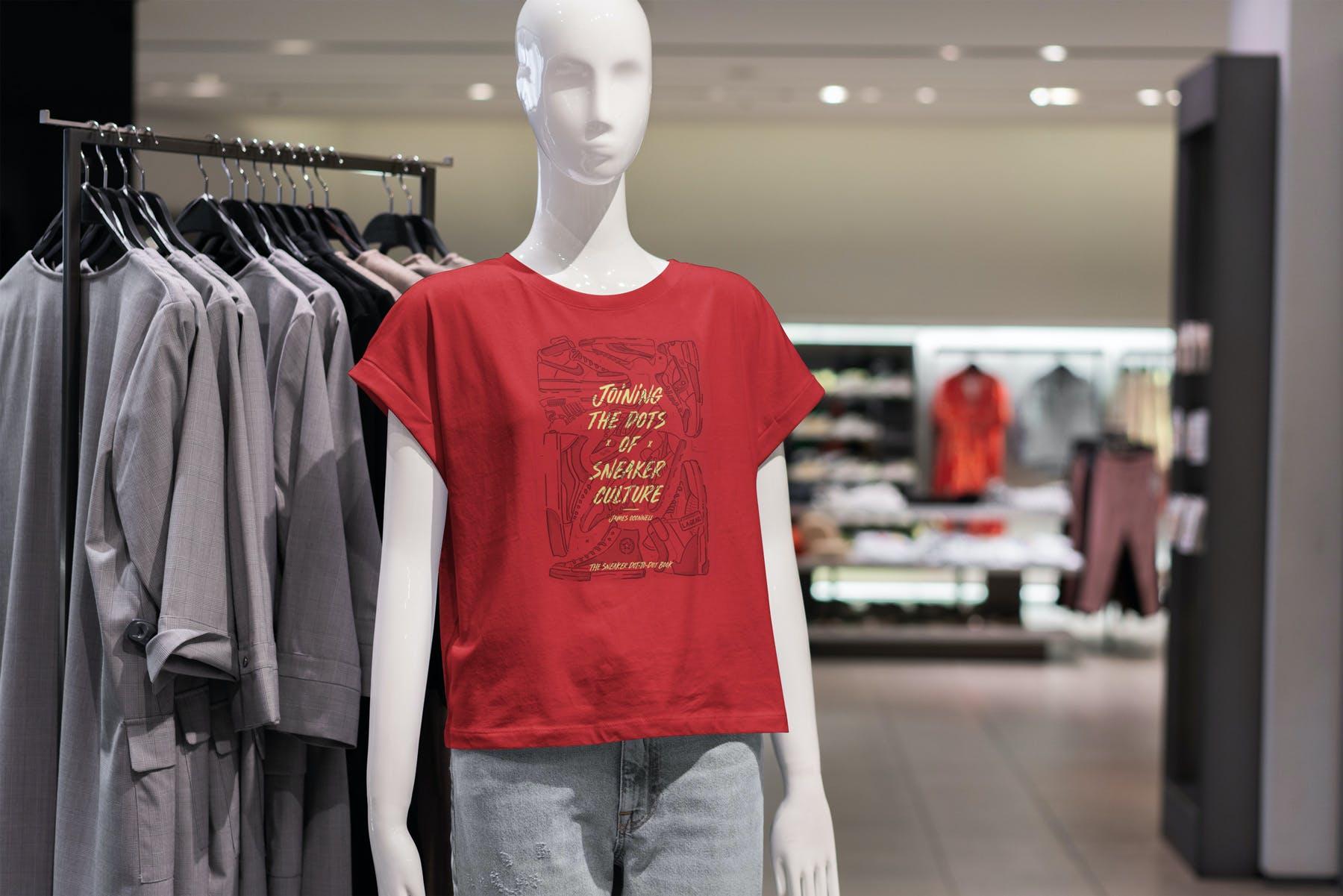 10款T恤半袖衫PSD样机模板 T-Shirt Shopping Mockup Vol.2插图(8)