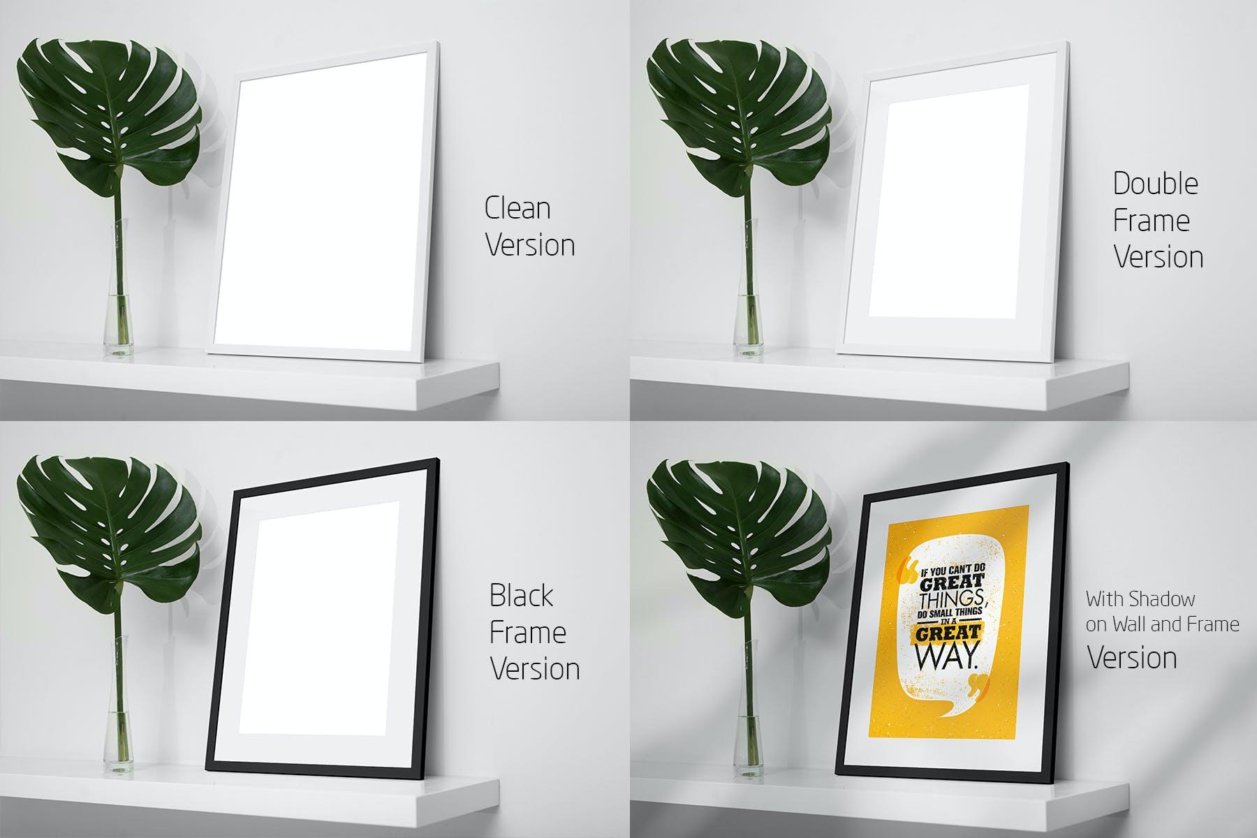 室内相片艺术品海报展示相框样机模板 Frame Mockup Home Style插图(8)