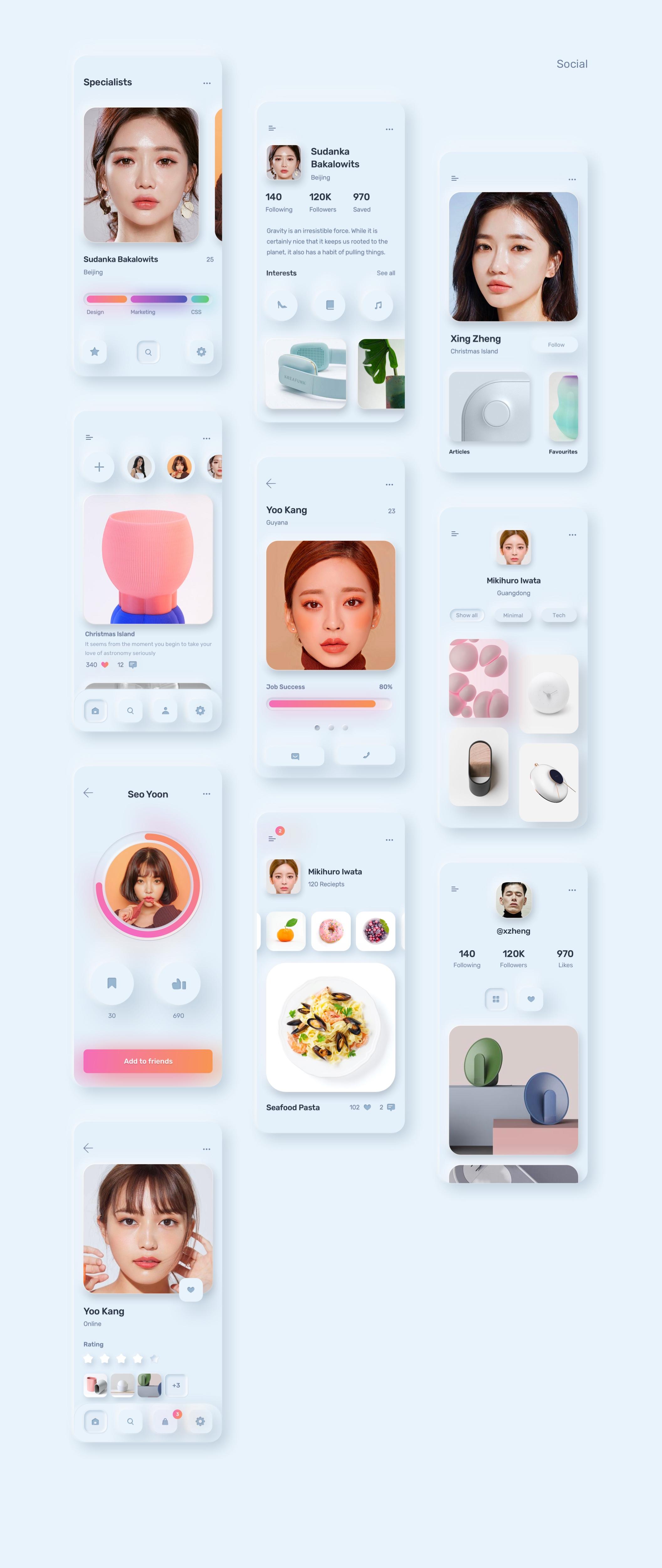 电商购物&金融类拟物化APP应用UI界面设计套件 Skeuomorph Ui Kit插图(22)