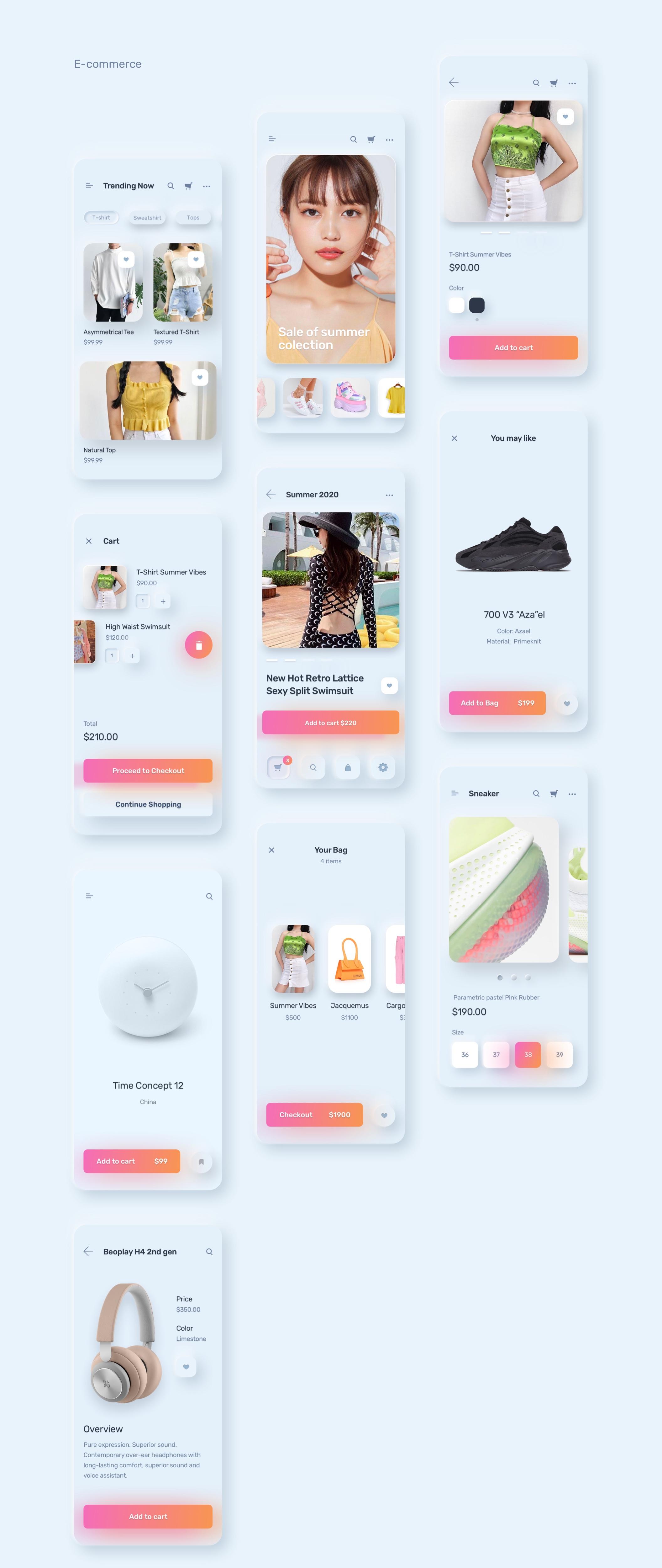 电商购物&金融类拟物化APP应用UI界面设计套件 Skeuomorph Ui Kit插图(23)