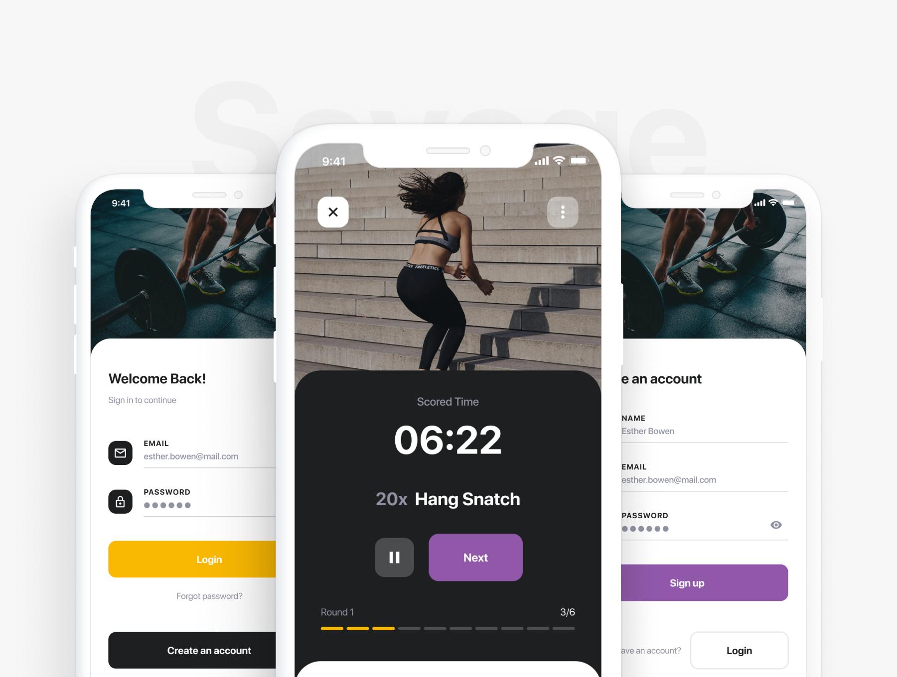 锻炼健身应用APP界面设计UI套件 Savage iOS UI Kit插图(2)