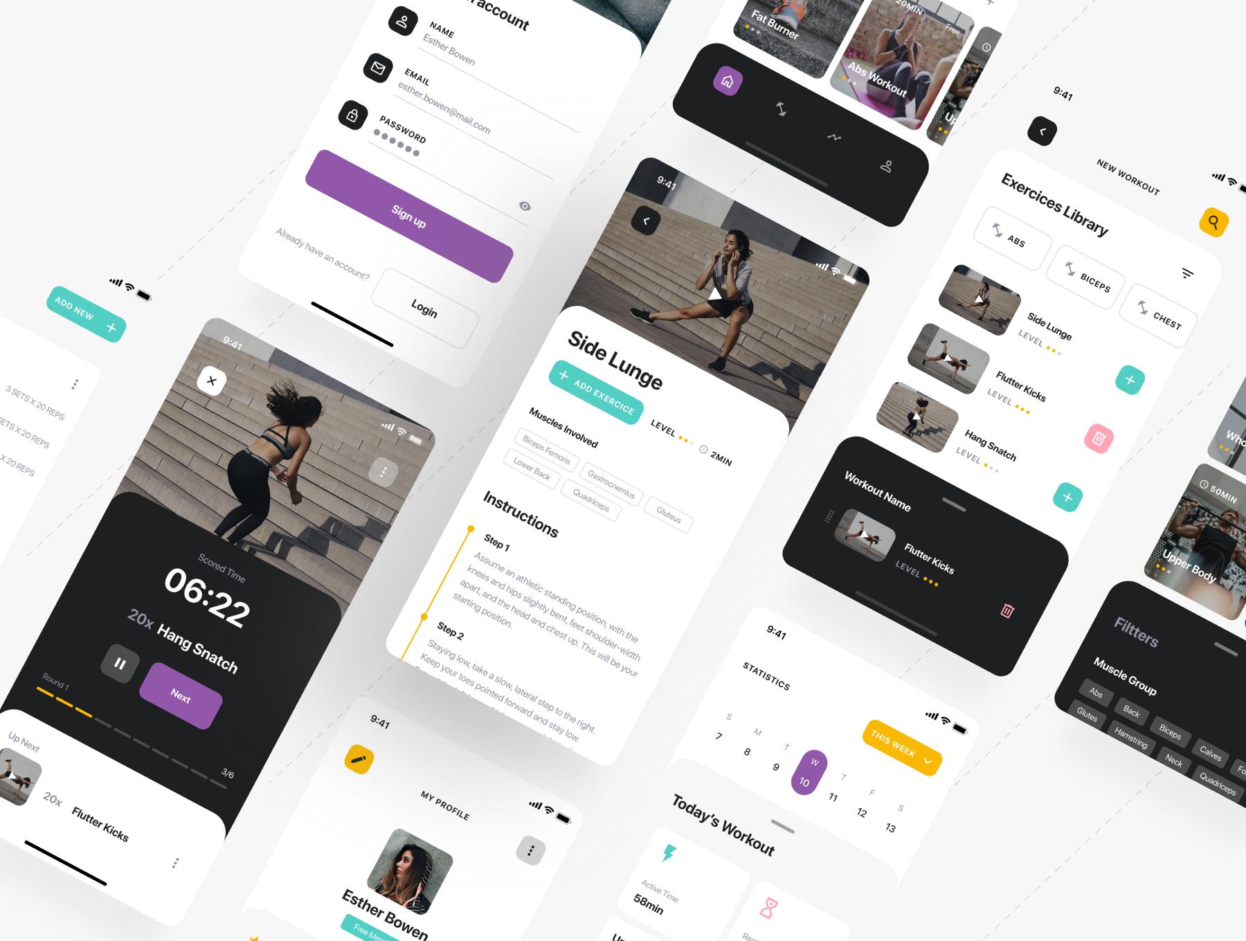 锻炼健身应用APP界面设计UI套件 Savage iOS UI Kit插图(4)