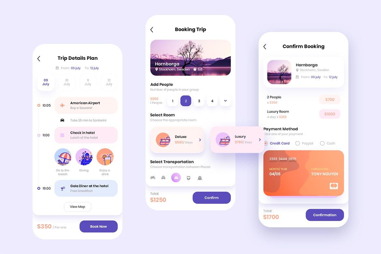 现代简约旅行摄影交友APP应用设计UI套件 Traap – Travel Mobile App UI Kit插图(6)