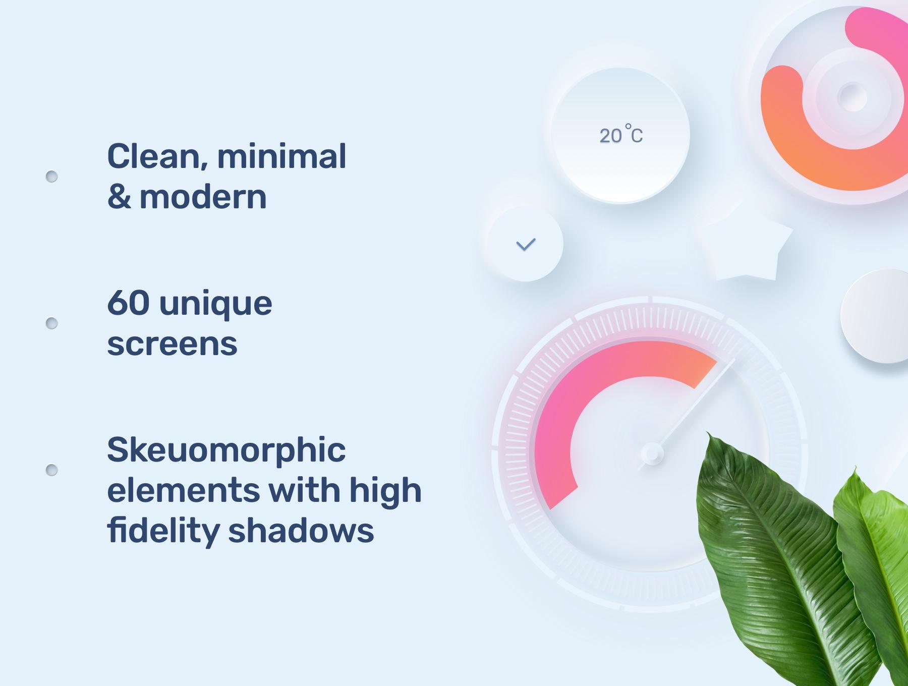 电商购物&金融类拟物化APP应用UI界面设计套件 Skeuomorph Ui Kit插图(3)