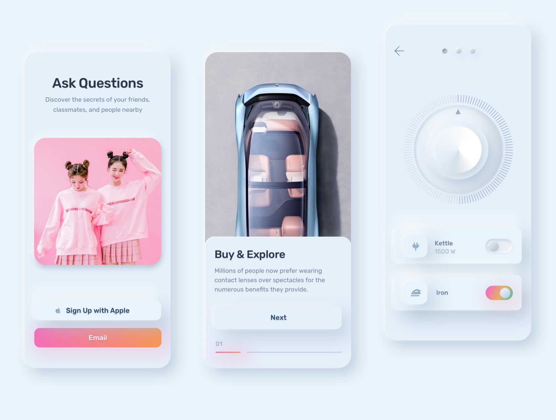 电商购物&金融类拟物化APP应用UI界面设计套件 Skeuomorph Ui Kit插图(10)