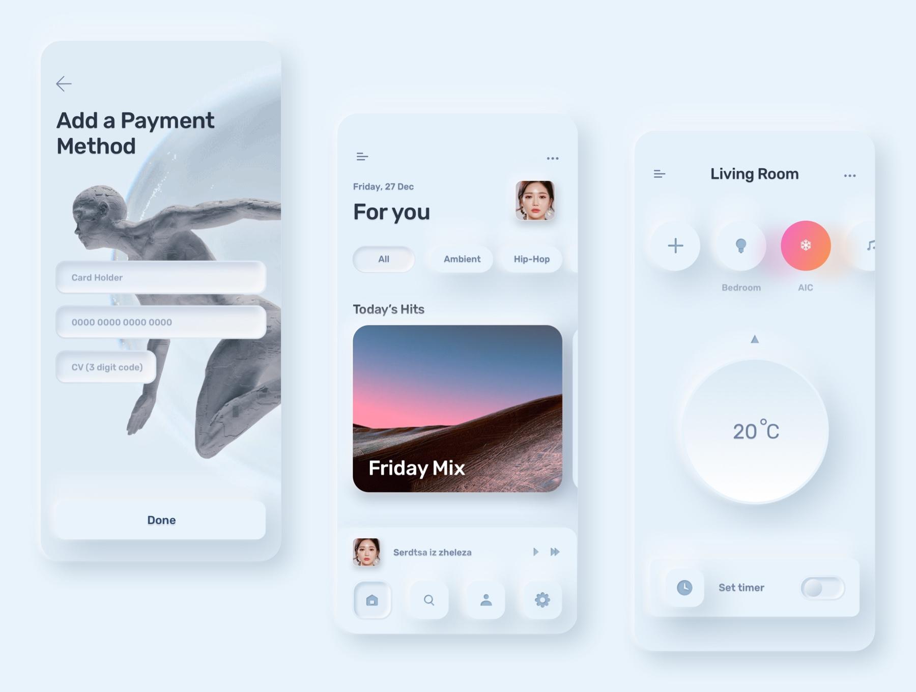 电商购物&金融类拟物化APP应用UI界面设计套件 Skeuomorph Ui Kit插图(8)