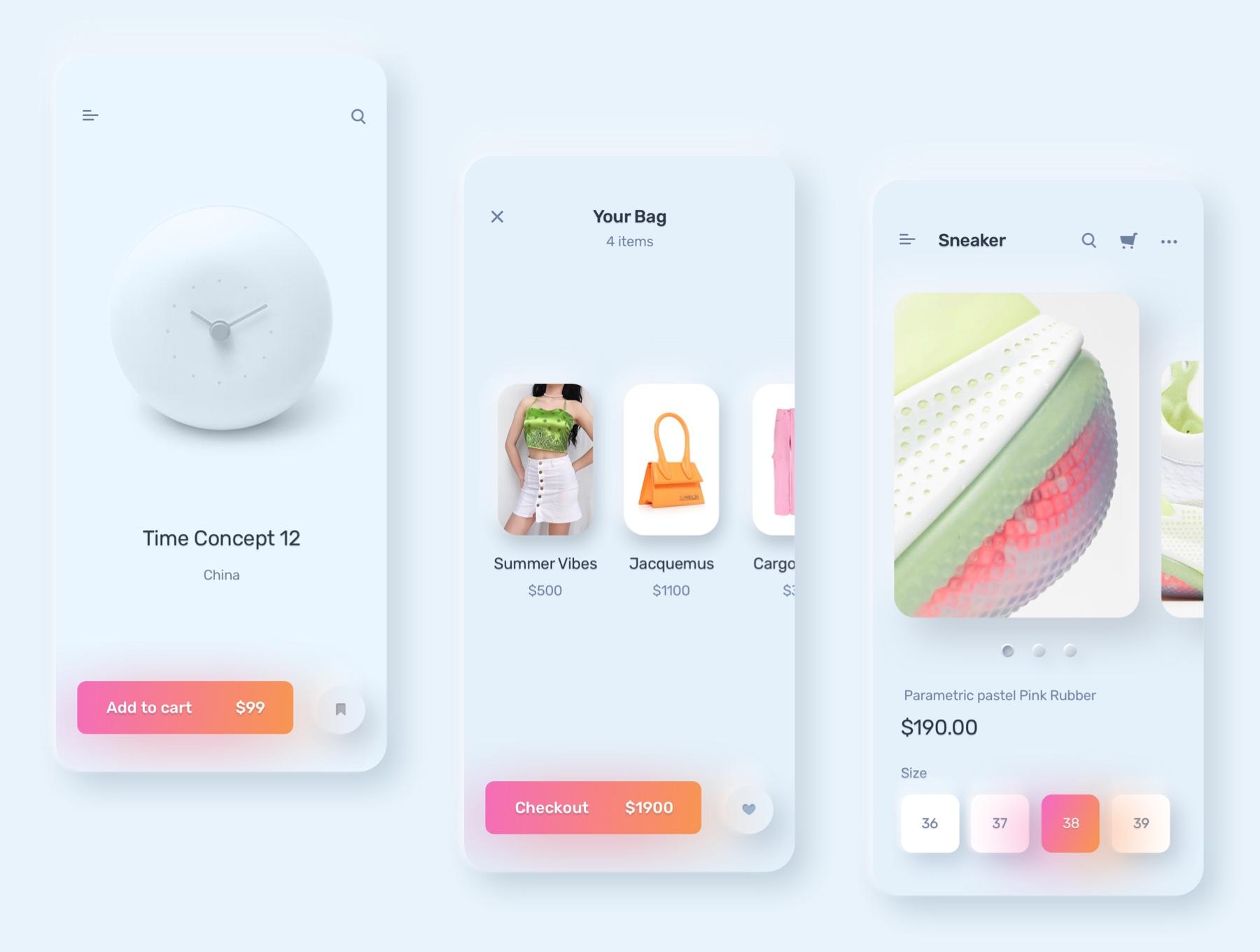 电商购物&金融类拟物化APP应用UI界面设计套件 Skeuomorph Ui Kit插图(6)
