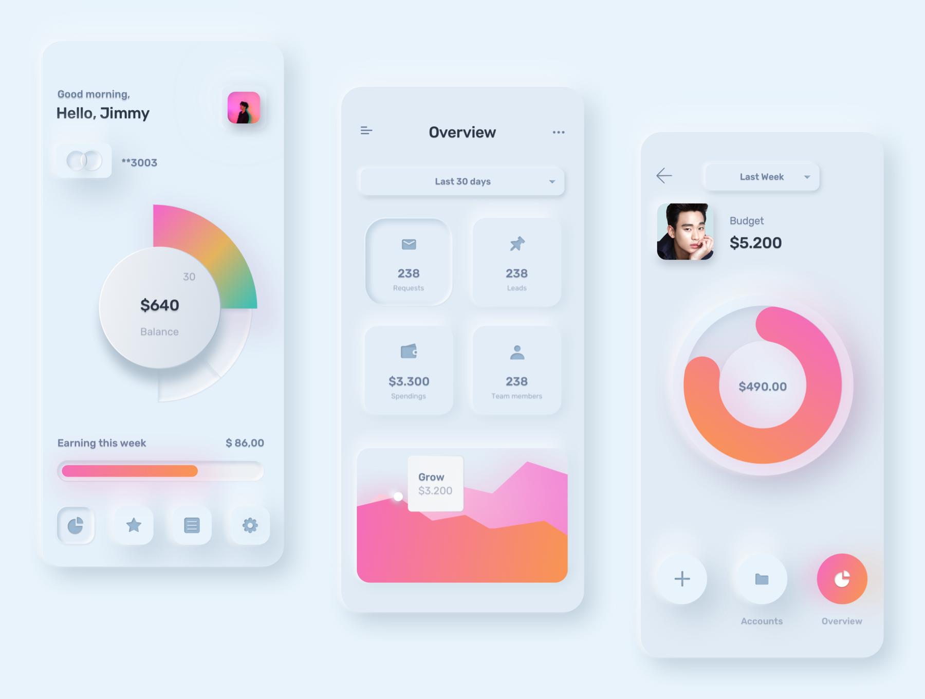 电商购物&金融类拟物化APP应用UI界面设计套件 Skeuomorph Ui Kit插图(12)
