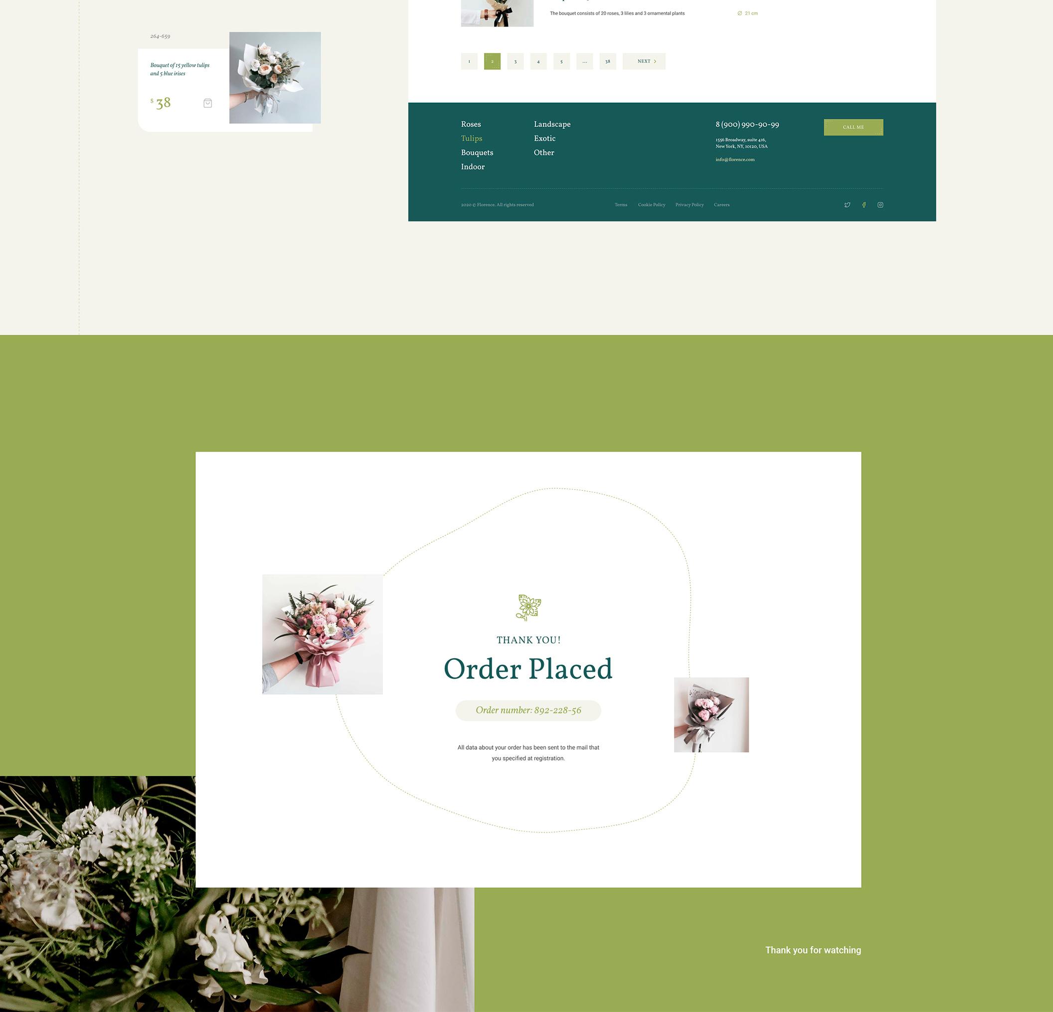 时尚花店电子商城网站WEB设计模板 Florence – eCommerce Web UI Kit插图(5)