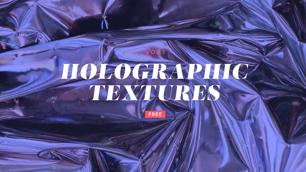 12款高清全息渐变铝箔背景纹理图片素材 Holographic Textures Vol.1插图