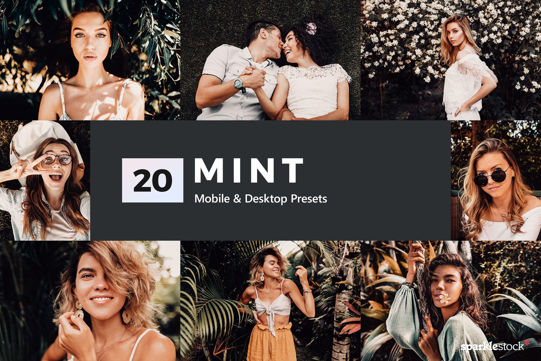 20款复古电影淡褐色照片调色LR预设模板 20 Mint Lightroom Presets and LUTs插图