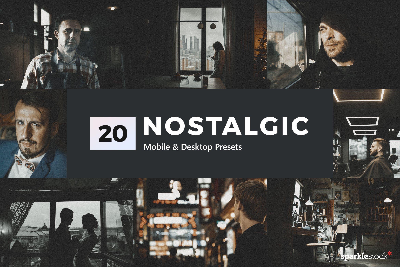 20款复古怀旧摄影照片后期处理调色LR预设模板 20 Nostalgic Lightroom Presets & LUT插图