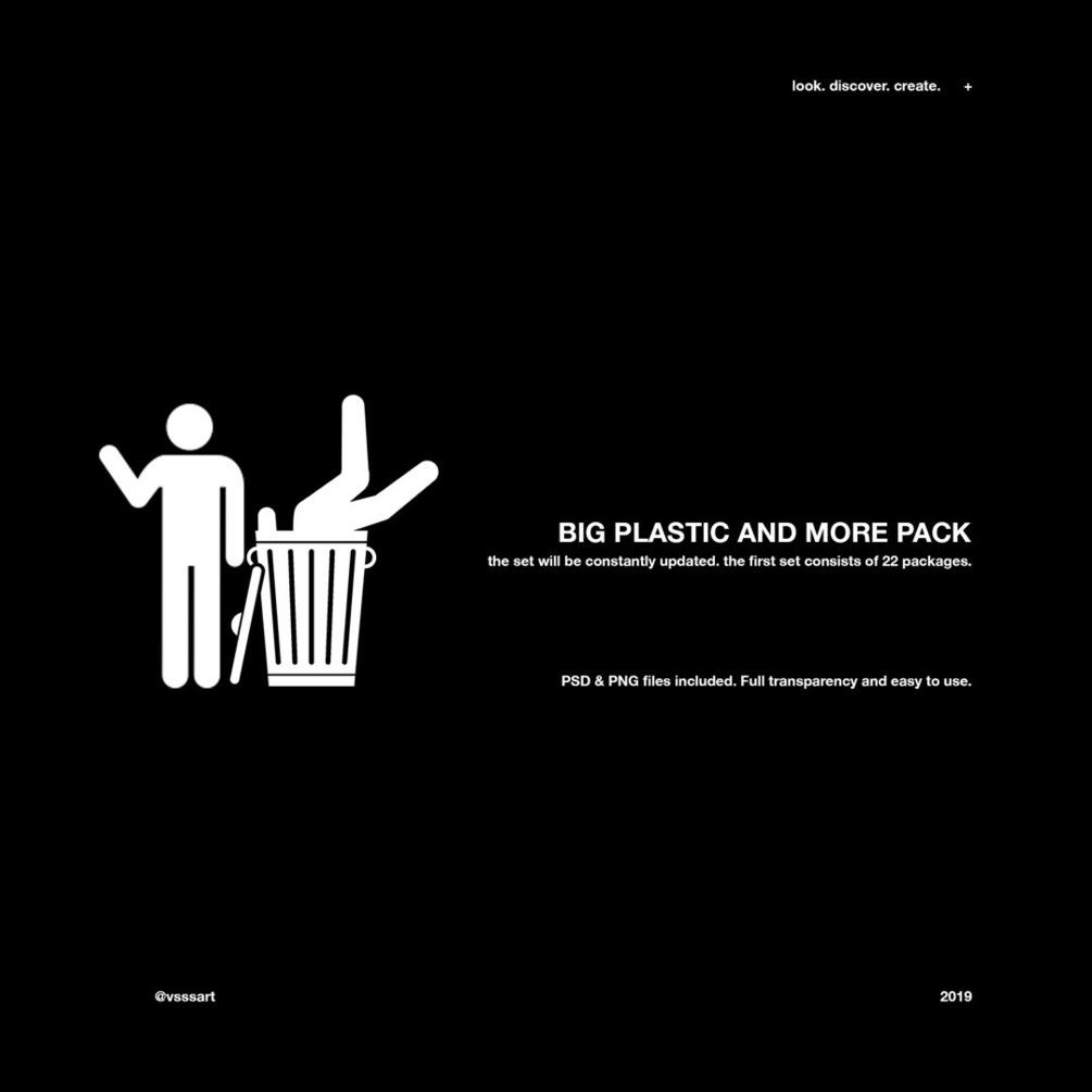 22款高清潮流褶皱塑料包装袋PNG免扣图片素材 VSSSART- Greta Plastic Bags Pack插图(1)