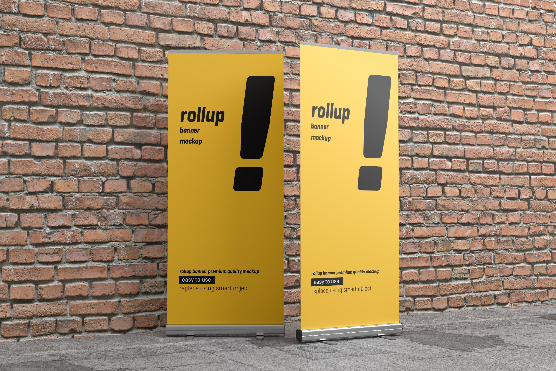 24款易拉宝海报展架设计展示样机模板 Roll Up Banner Mockup插图(21)