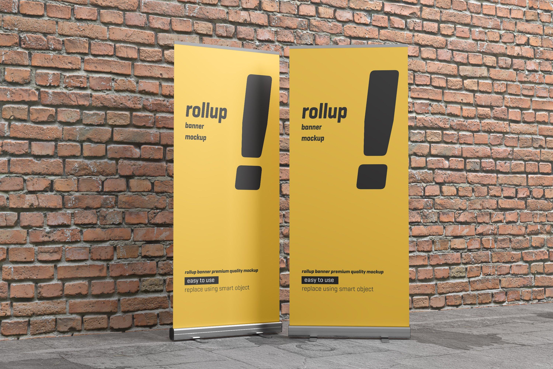 24款易拉宝海报展架设计展示样机模板 Roll Up Banner Mockup插图(22)