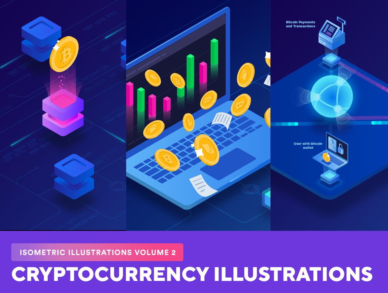 20个等距金融业务加密货币矢量插画素材 Isometric Illustrations Vol. 2插图
