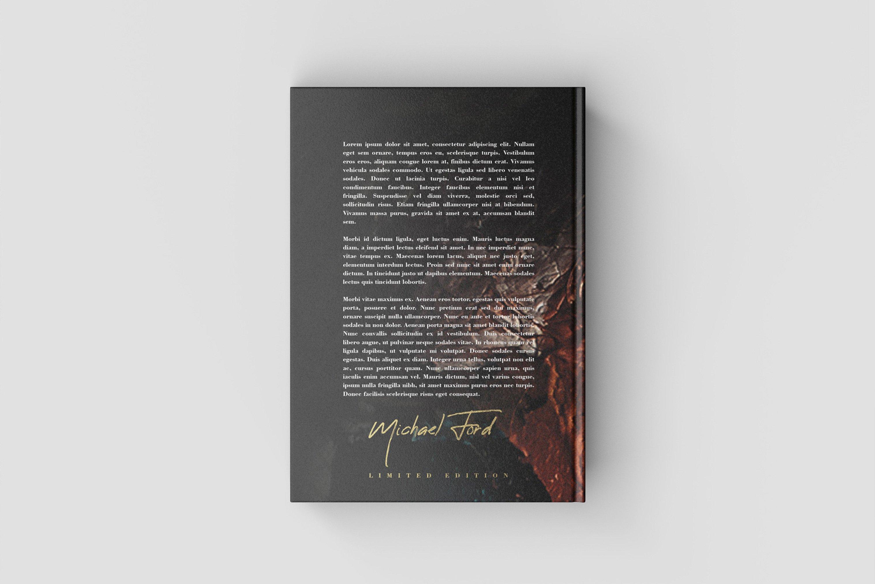 7款精装书封面设计展示样机模板集 Book Cover Mockup Set插图(3)