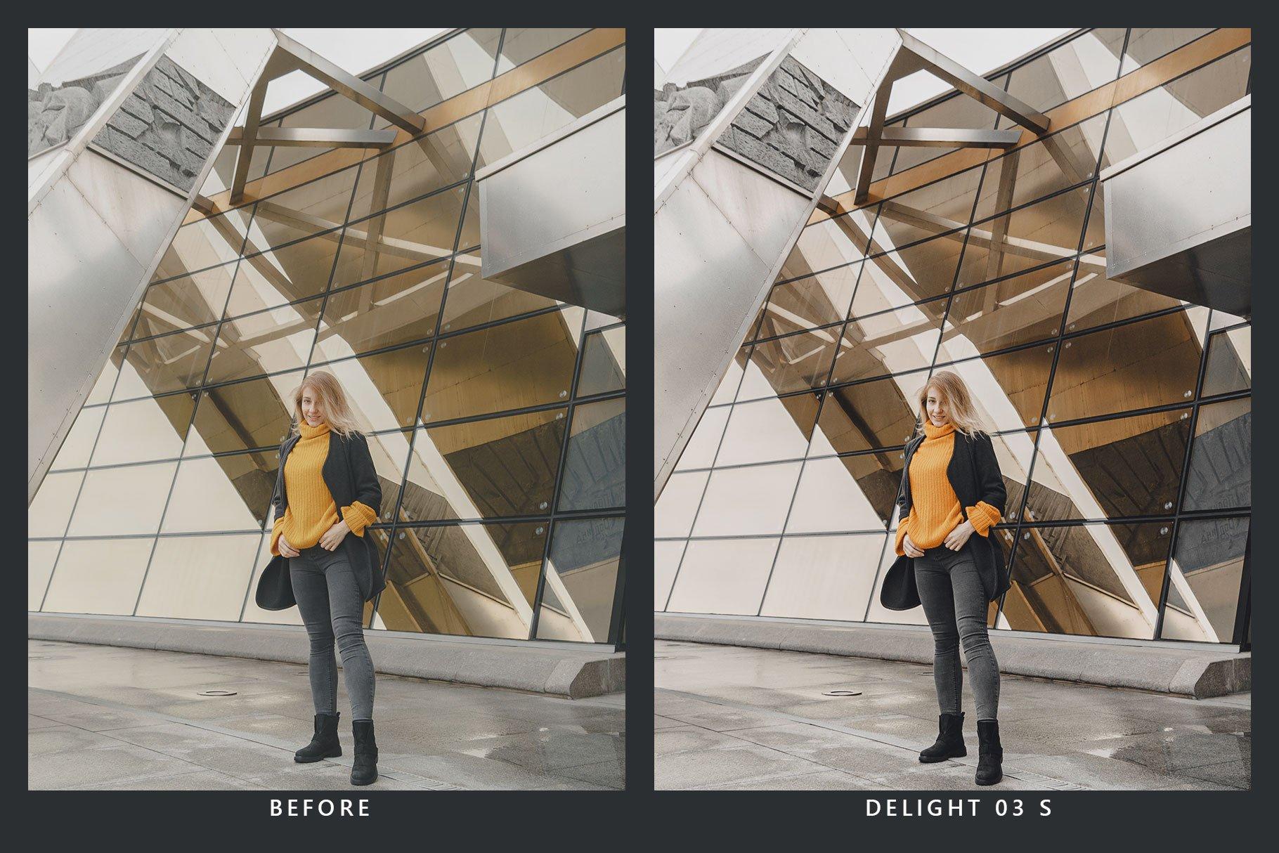 橘黄色滤镜摄影照片后期调色LR预设 Orange Dream Lightroom Presets & LUT插图(1)