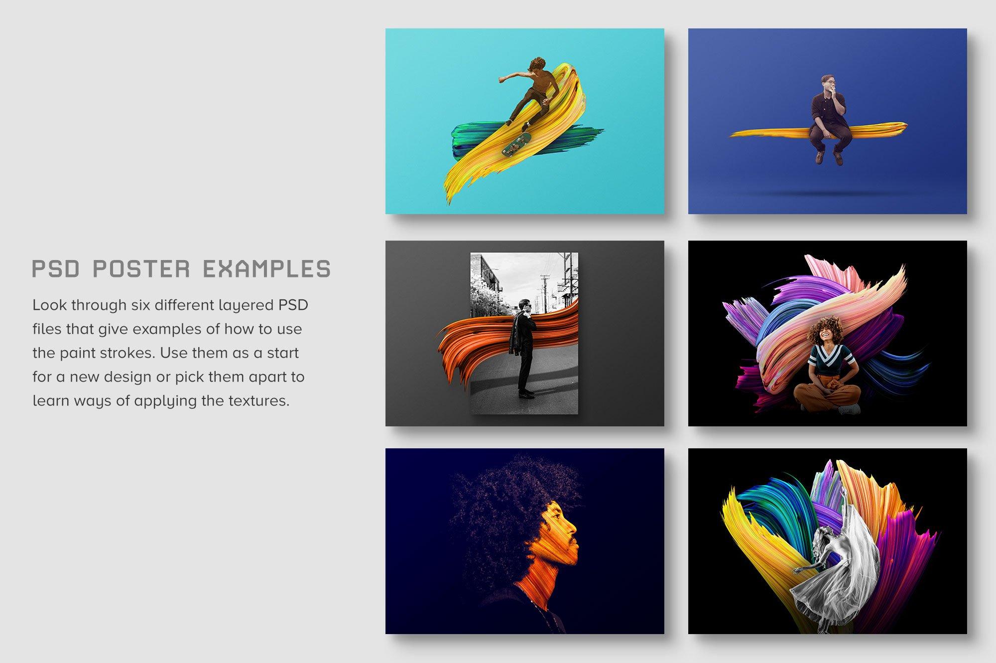 创意炫彩绘画颜料笔刷海报主视觉广告设计PS素材 Vibrant Paint Strokes插图(2)