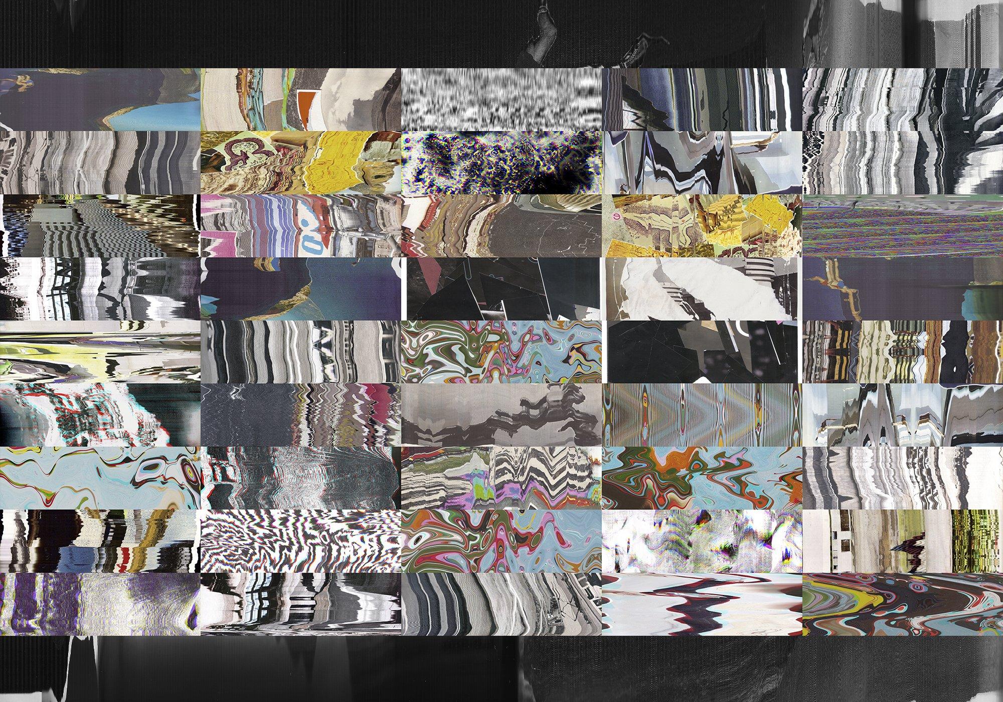 62款高清抽象故障风广告海报设计背景纹理PNG图片素材 Distorted Paper Texture插图(2)
