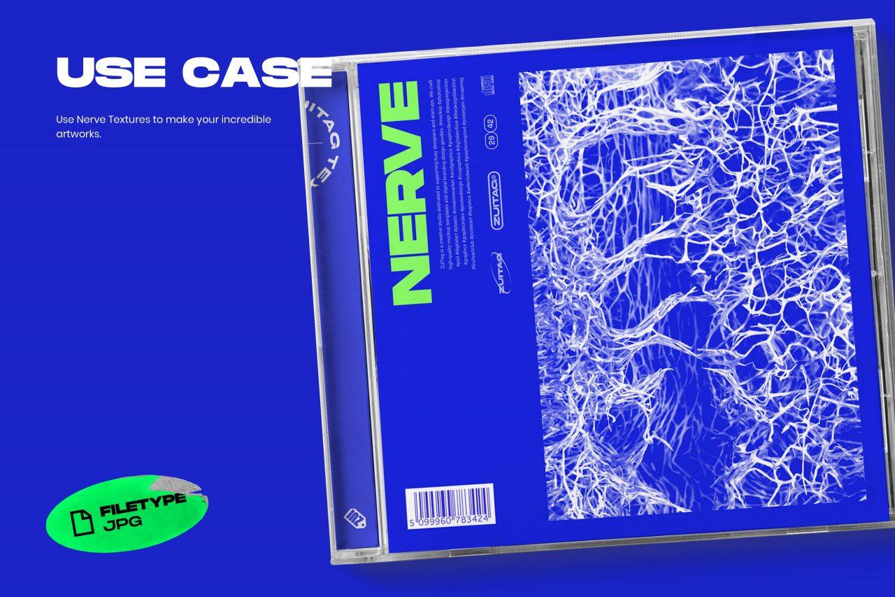 25款高清有机海绵纤维海报设计背景纹理JPG图片素材 Nerve Textures插图(2)