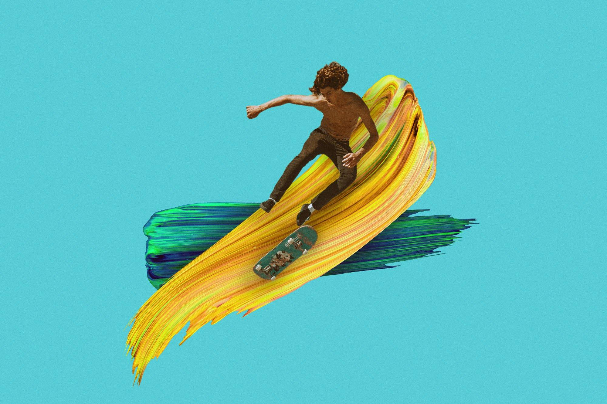 创意炫彩绘画颜料笔刷海报主视觉广告设计PS素材 Vibrant Paint Strokes插图(3)