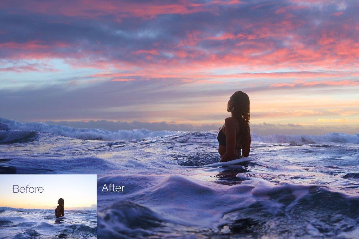 64款高清天空叠加层JPG图片素材 64 Pastel Sky Overlays插图(3)