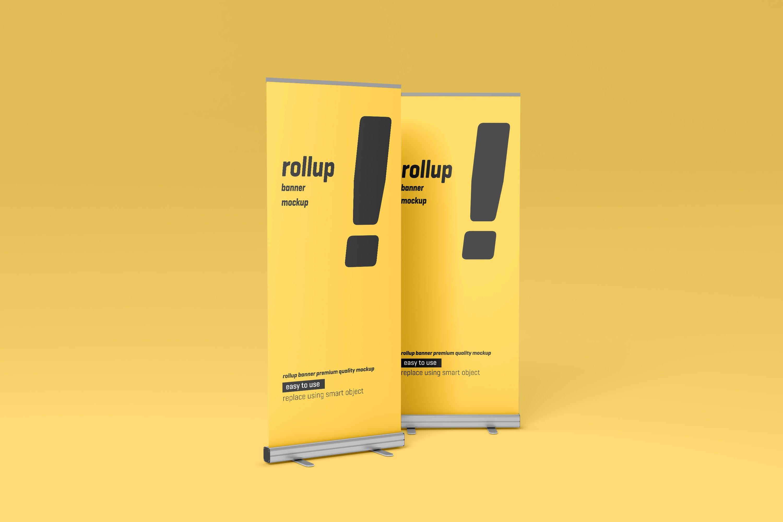 24款易拉宝海报展架设计展示样机模板 Roll Up Banner Mockup插图(3)