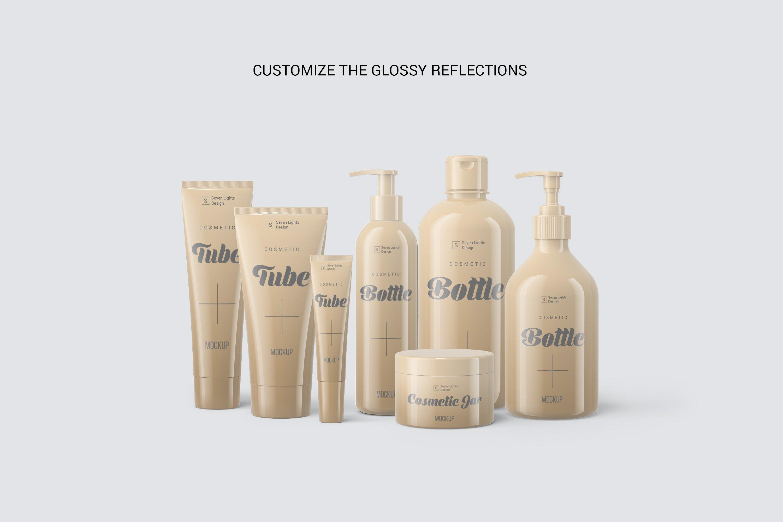 13款化妆品包装瓶设计展示样机模板 Cosmetic Mockup Set插图(5)