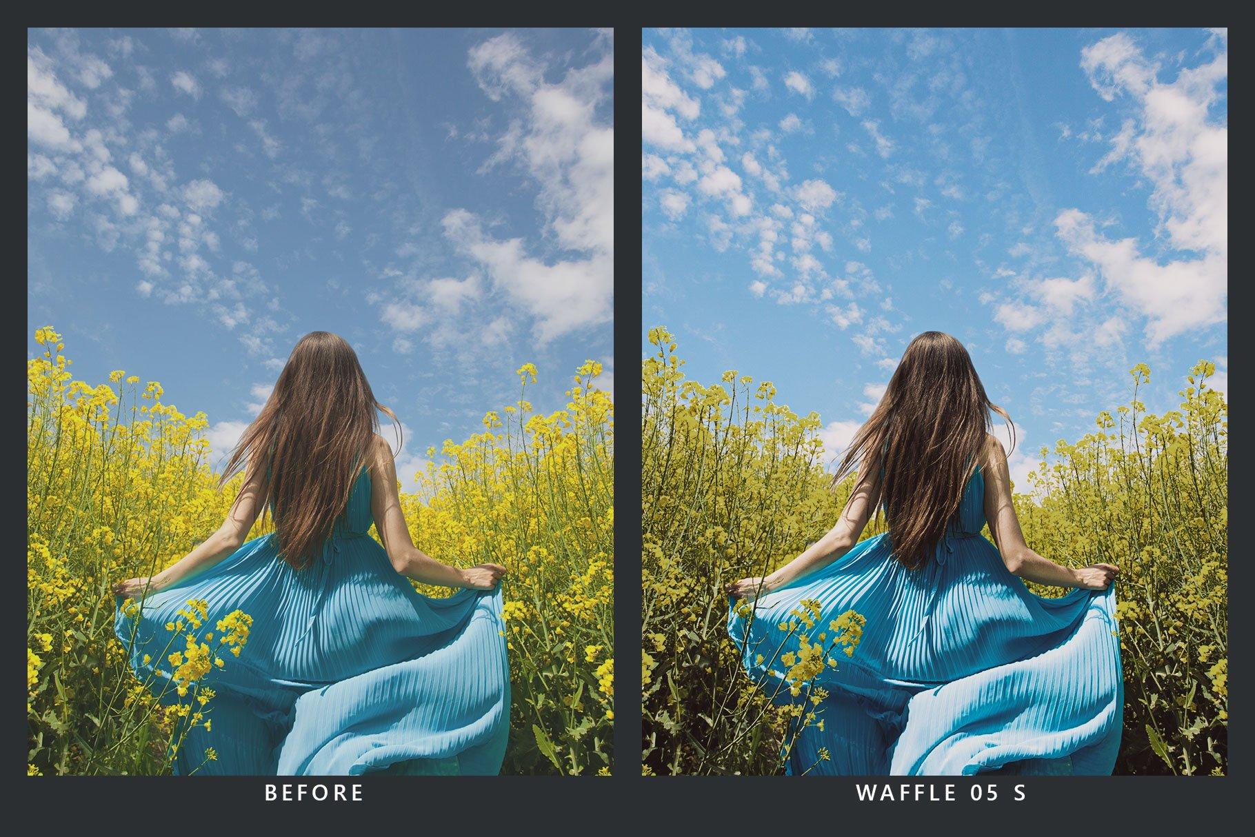 20款蓝色调海滩摄影照片调色滤镜LR预设 20 Blueberry Lightroom Presets & LUT插图(4)