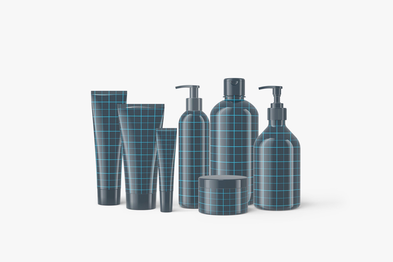 13款化妆品包装瓶设计展示样机模板 Cosmetic Mockup Set插图(6)