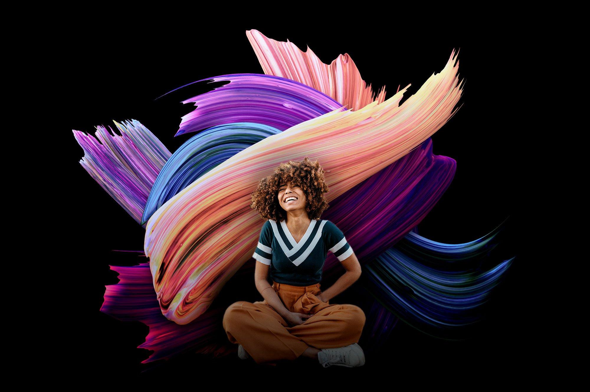 创意炫彩绘画颜料笔刷海报主视觉广告设计PS素材 Vibrant Paint Strokes插图(6)