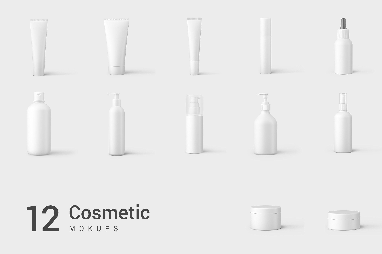 13款化妆品包装瓶设计展示样机模板 Cosmetic Mockup Set插图(7)