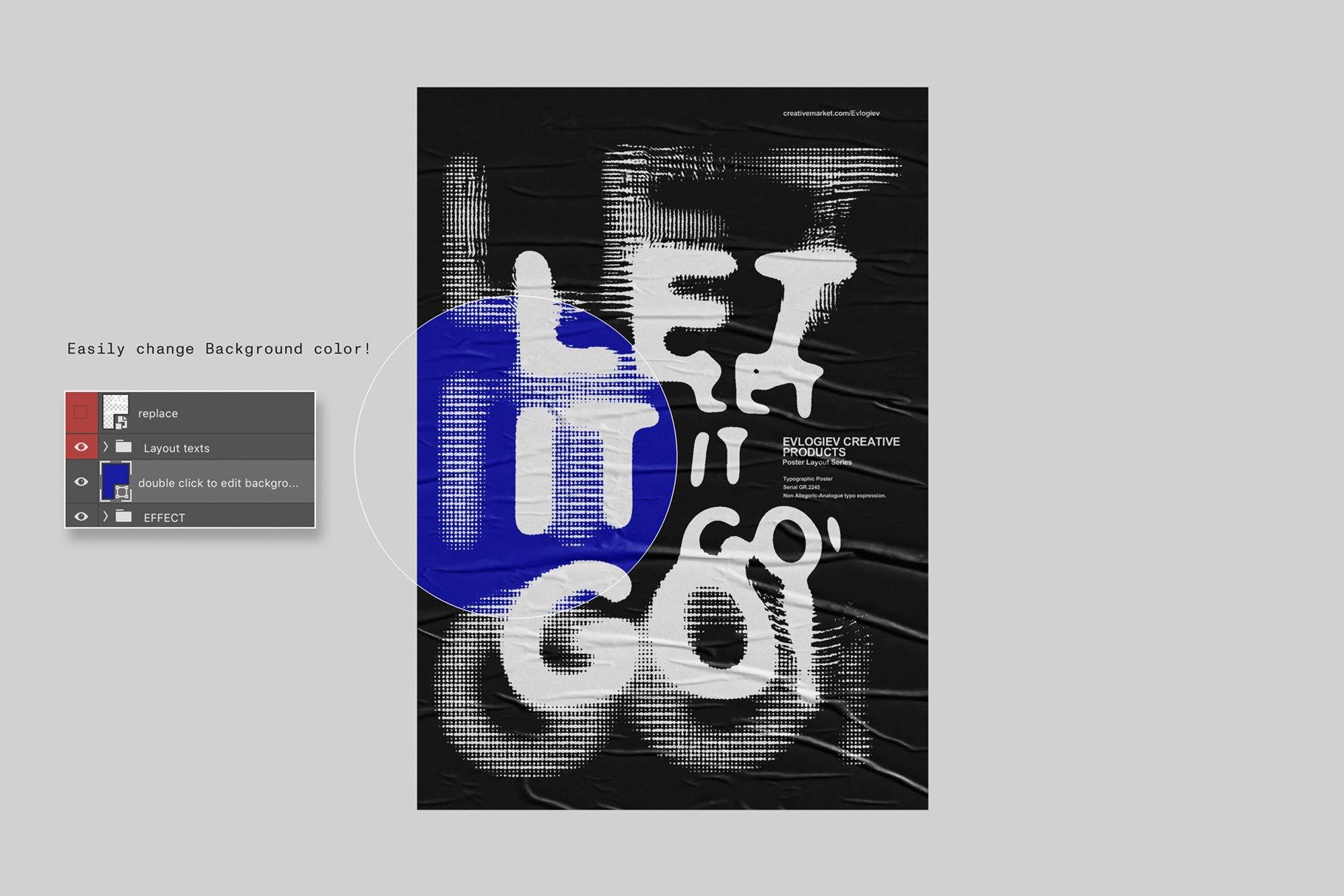 20款创意抽象主视觉海报标题特效字体设计智能贴图样机模板 Typographic Poster Layouts No.01插图(8)
