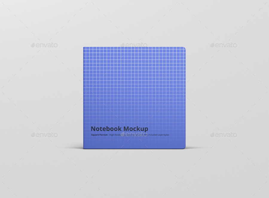 8款正方形笔记本设计展示样机模板 Notebook Mockup Square Format插图(8)