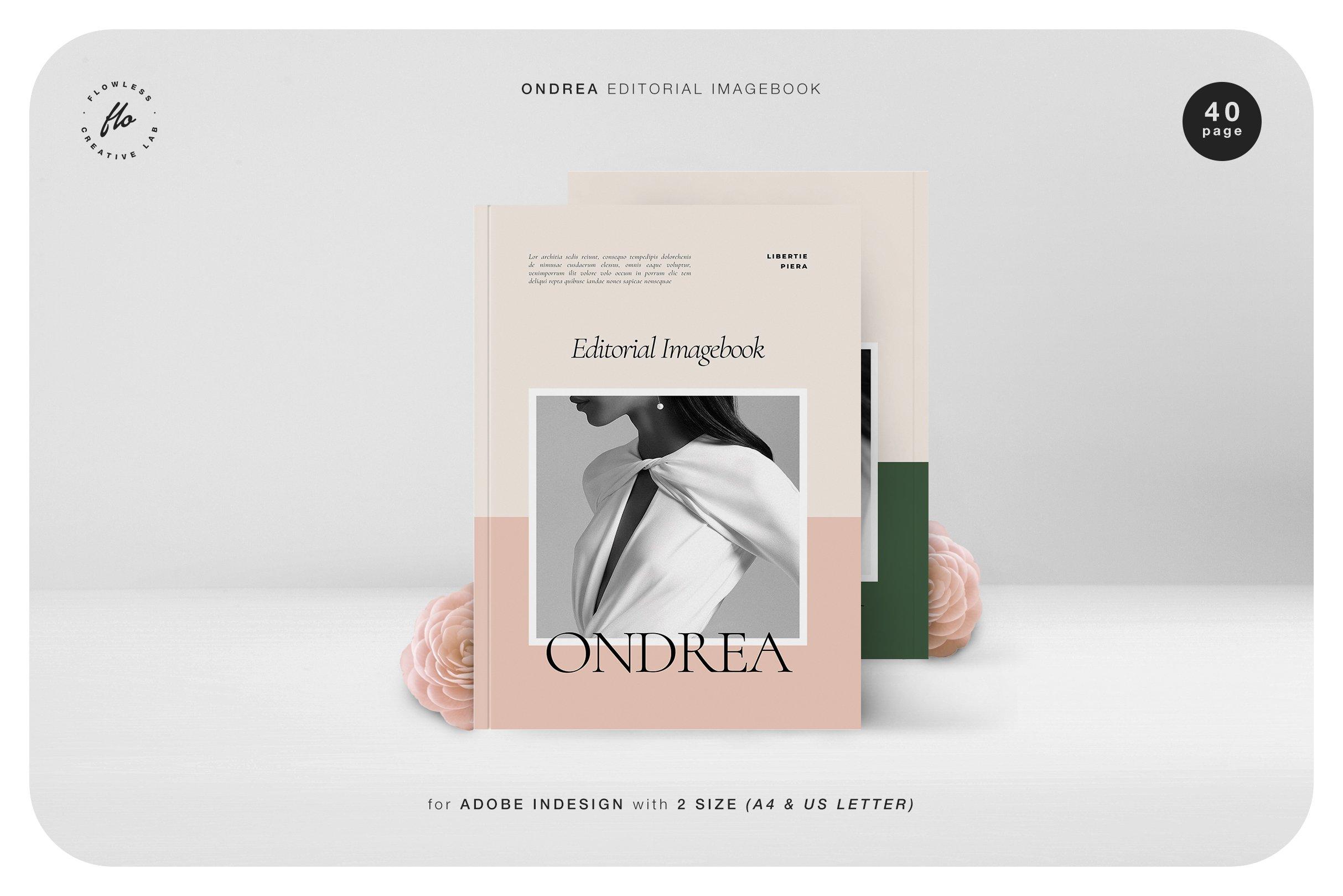 时尚服装设计作品集INDD画册模板 ONDREA Editorial Imagebook插图
