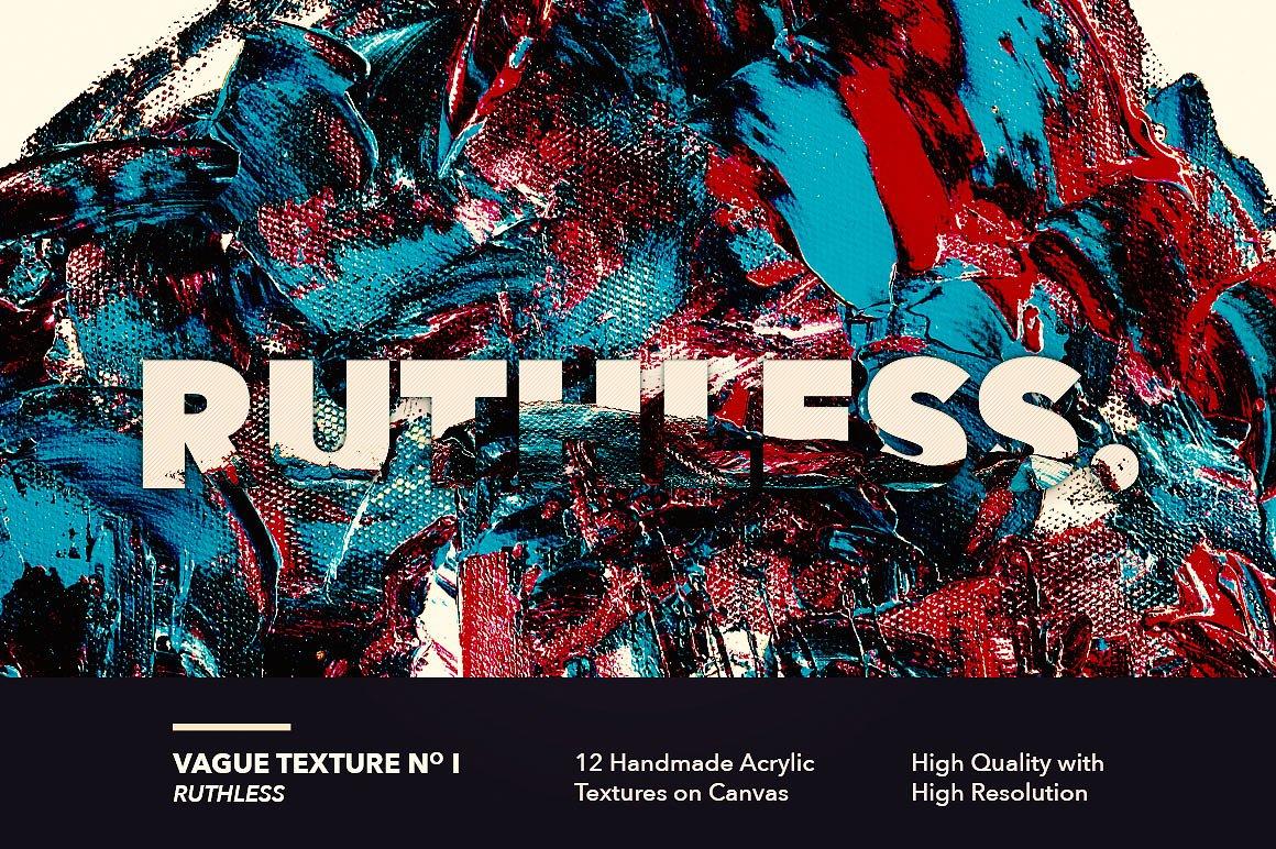 12款高清抽象炫彩丙烯酸涂料海报设计背景纹理图片素材 Vague I: 12 Acrylics Textures插图(1)