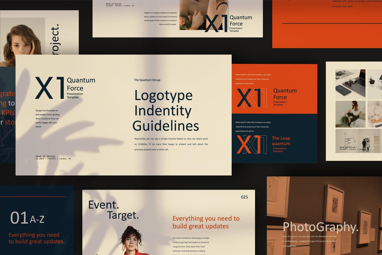 时尚创意品牌VI指南手册设计演示文稿模板 X1 – Brand Guidline Powerpoint插图