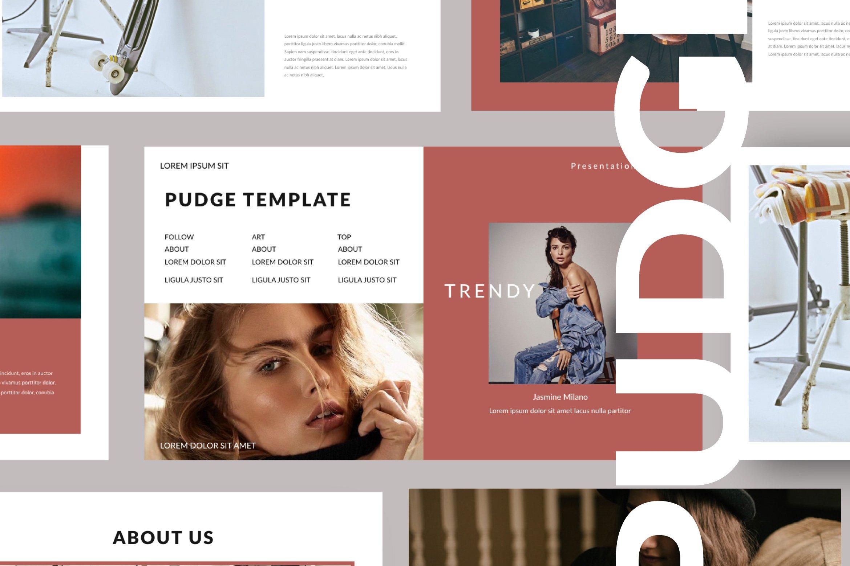 简约商业策划书演示文稿设计模板 PUDGE – Casual Powerpoint插图