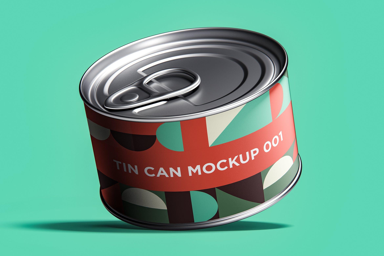 12款食品罐头易拉罐锡罐外观设计展示样机模板 Tin Can Mockup Set插图