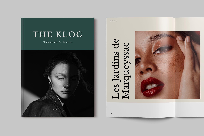 极简摄影作品集宣传册设计INDD模板 Photography Portfolio Brochure Template插图