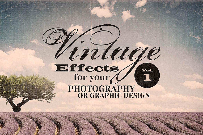 30张复古老式褶皱破裂纸书套纹理素材 Vintage Effects for Photo or Designs插图