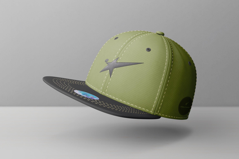 9款棒球帽印花设计展示样机模板 Snapback Baseball Cap Mockups Vol.1插图