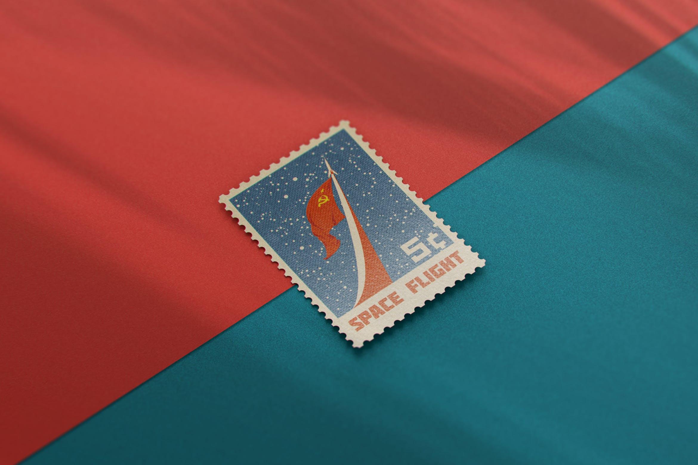 10款复古邮票文创设计展示样机模板 Postage Stamp MockUp v1插图